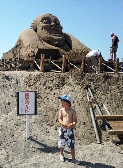 $ときどきグルメになりたくなるブログ-釜谷浜海水浴場(秋田県三種町)6