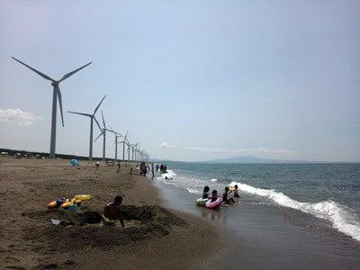 $ときどきグルメになりたくなるブログ-釜谷浜海水浴場(秋田県三種町)3