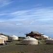 モンゴルのゴビ砂漠で…