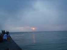 ■■ 雪山依存症 ■■-西桟橋からの夕陽。