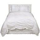【送料無料】Shabby Chic シャビーシック Smocked Duvet Set スモックド ドゥべ 布団カバー&枕 セット Twin ツイン(シングル) サイズ White ホワイト