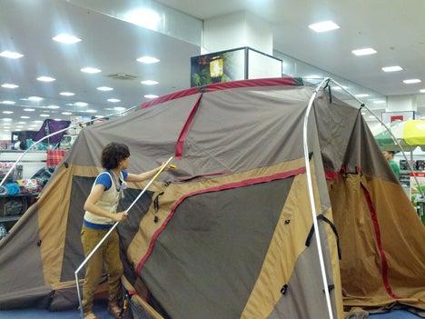 初めてのオートキャンプ!子供と一緒にキャンプに行こう!-北戸田店ランドロック設営講習会5