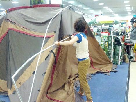 初めてのオートキャンプ!子供と一緒にキャンプに行こう!-北戸田店ランドロック設営講習会9