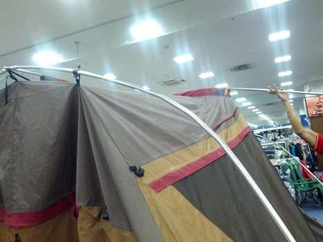 初めてのオートキャンプ!子供と一緒にキャンプに行こう!-北戸田店ランドロック設営講習会7