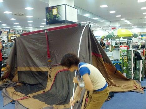 初めてのオートキャンプ!子供と一緒にキャンプに行こう!-北戸田店ランドロック設営講習会4