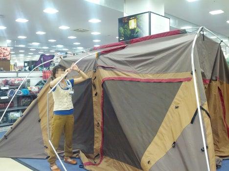 初めてのオートキャンプ!子供と一緒にキャンプに行こう!-北戸田店ランドロック設営講習会6
