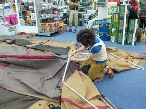 初めてのオートキャンプ!子供と一緒にキャンプに行こう!-北戸田店ランドロック設営講習会3