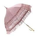 超ゴージャス!!レースのタッセル付き日傘  ピンク(全4色)