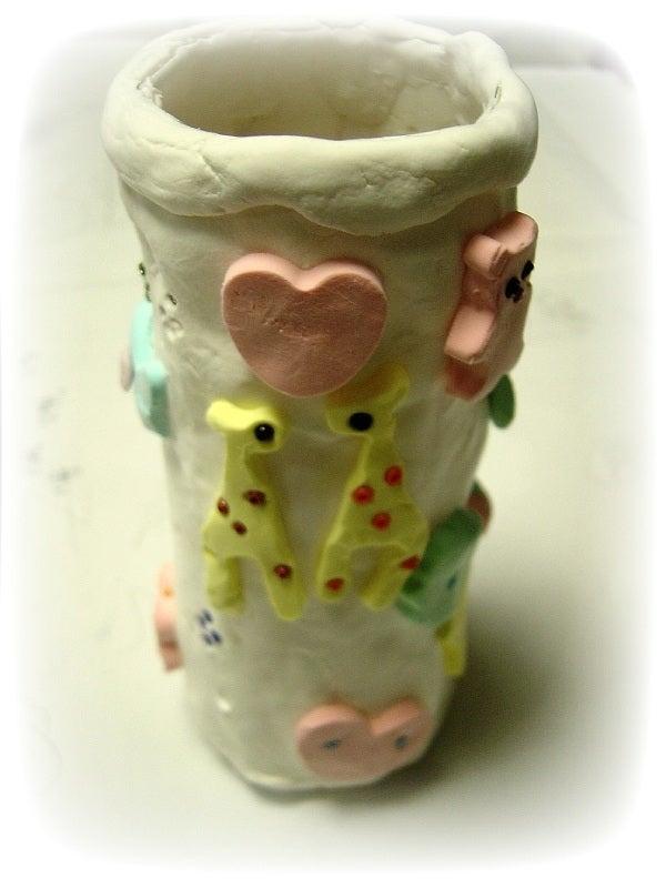 snail´s nail(ハンドメイドアクセサリー)のブログ ~ 改め、手造りオヤジは自己満足なので・・・-紙粘土ペン立て