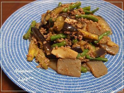 Nagano Life**-夏野菜とひき肉のしぐれ煮