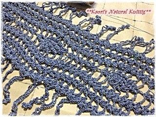 かおりのNatural Knitting-小さなパイナップル模様のストール-03