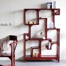 中国家具 ラック チャイナラック Sサイズ 木製 ディスプレイラック 中国 中華 アジアン エスニック アジア チャイニーズ デザイン エスニックテイスト