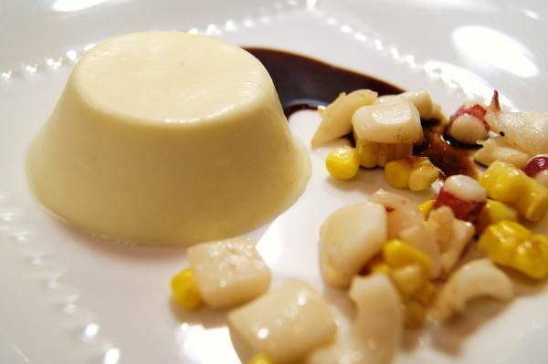 食べて飲んで観て読んだコト+レストラン・カザマ-トウモロコシのブラマンジェ