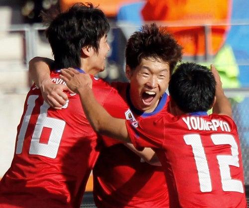 サッカー日本代表 韓国代表