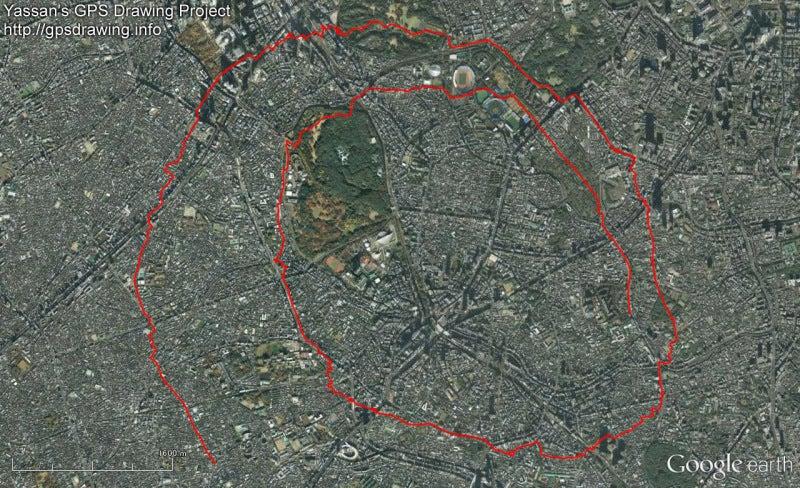 やっさんのGPS絵画プロジェクト -Yassan's GPS Drawing Project--GPS進捗120812