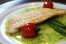 食べて飲んで観て読んだコト+レストラン・カザマ-マツカワガレイのムニエル