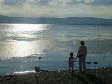 エマ美容室の[チョキ×チョキ日記]-おまけ。諏訪湖で、黄昏の散歩。