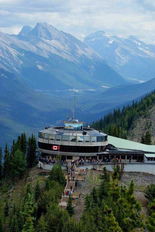 エメラルドグリーンのきれいな湖: 誕生日旅行*Sulphur Mountain