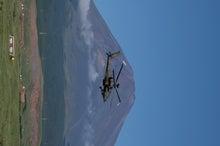 鉄とゴールドの日々-2-富士山を横切るアパッチ(演習前予行)