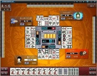無料ブラウザゲーム-近代麻雀 我流ネット 麻雀ゲーム
