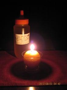 蜜蝋キャンドル灯火