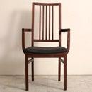 (nol-221603肘有) ハイバック ダイニングチェア 天然木製 ウォールナット 無垢材 日本製 送料無料 北欧テイスト 食卓椅子 国産