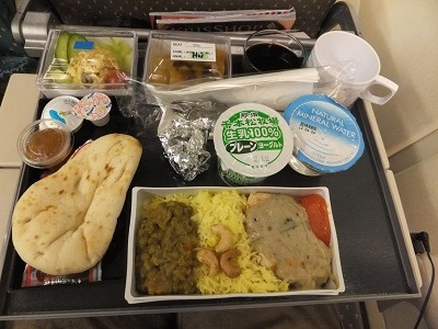 シンガポール航空でスペシャルミール (2012年3月 ミャンマー)