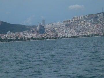 船から見る大都会
