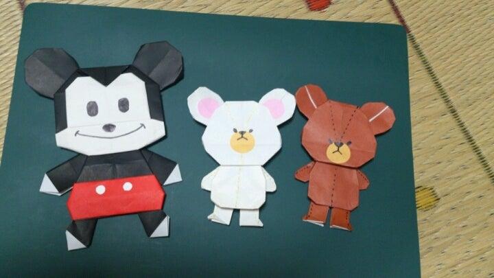 折り 折り紙:くま 折り紙-ameblo.jp