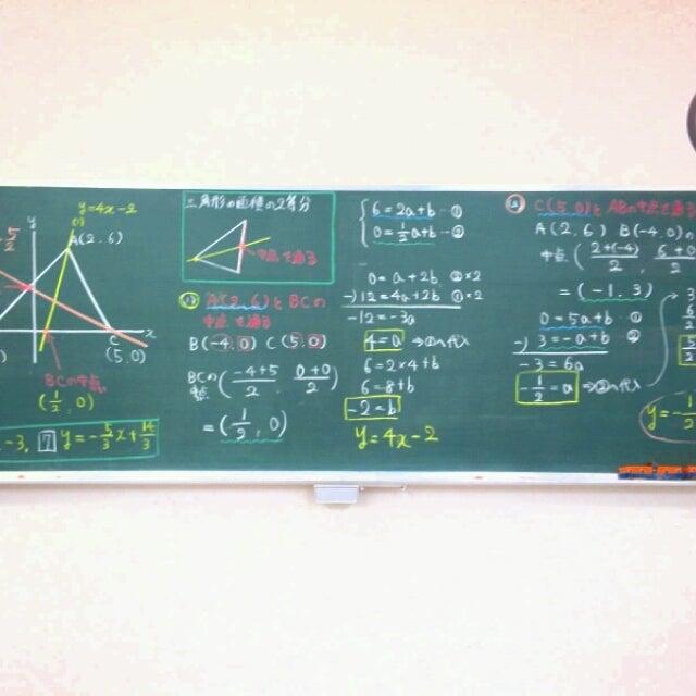 今日の授業 板書(中2数学 ...