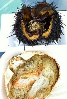 利尻のウニと紋別の甲羅焼き