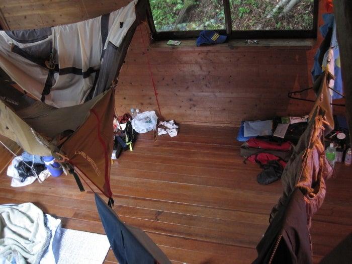 歩き人ふみの徒歩世界旅行 日本・台湾編-部屋干しテント