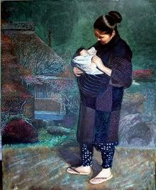 渡辺元司の絵画作品-「里暮しのひと(女)」 F100号 アクリル画