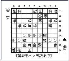 将棋 次の一手名人戦-第42手局面