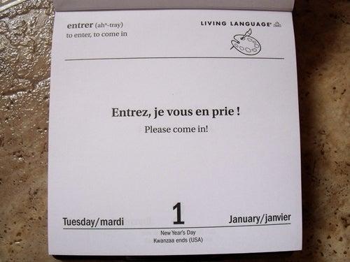$penのフランス語日記 Ameba出張所-日めくり-3