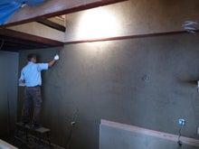 京町家を買って改修する男のblog-11中塗り親方