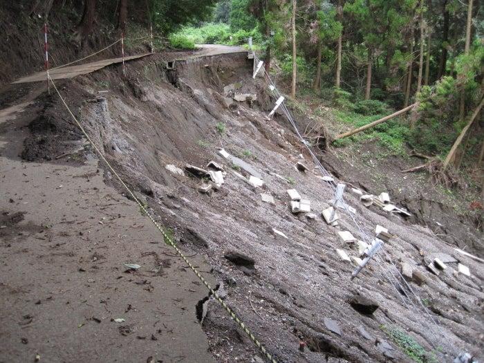 歩き人ふみの徒歩世界旅行 日本・台湾編-土砂崩れ