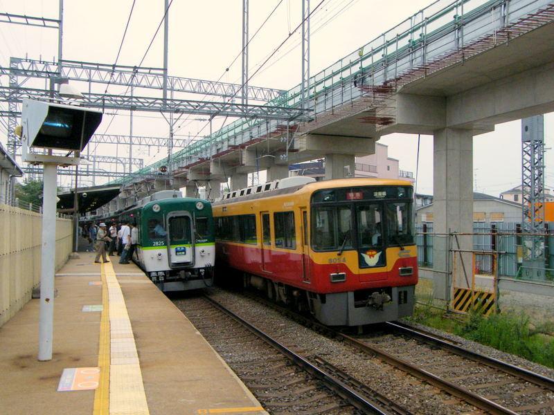京阪淀駅高架化前01