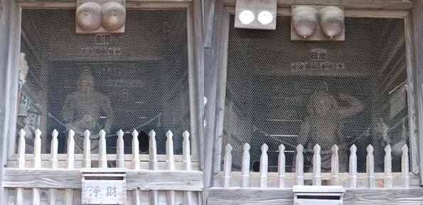 $スカイラインGTR(BNR34)で行く千葉県のドライブ-浦辺仁王尊観音寺「仁王様」