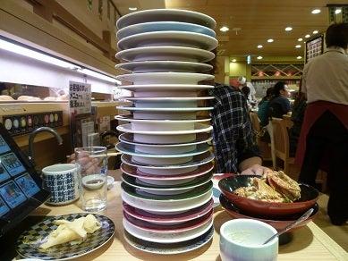 ☆Naomiの英語&日本語バイリンガルダイアリー☆-piled sushi plates