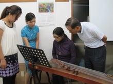 ケイ語学教室のブログ-参加者古筝体験