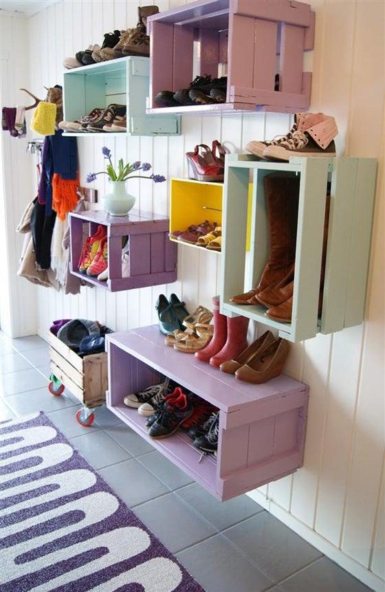 靴・ブーツ・ハイヒール・スニーカーのおしゃれな収納方法アイデア