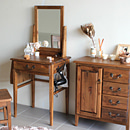 送料無料 ドレッサー アンティーク デザイン 木製 鏡台 化粧台 メイク台 一面鏡台