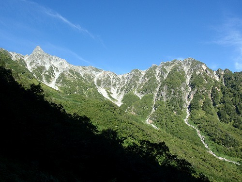 $風花の山と花風景