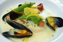 食べて飲んで観て読んだコト+レストラン・カザマ-貝類のマリニエール
