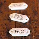 オリジナル ドアプレート(トイレ・バスルーム・プライベート)