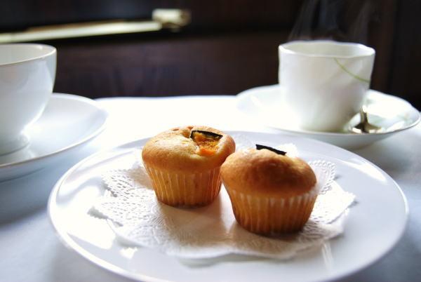 食べて飲んで観て読んだコト+レストラン・カザマ-カボチャのマフィン