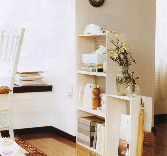 集めて並べて素敵整とん 空間に合わせて自在に組み合わせる 薄型木製シェルフの会