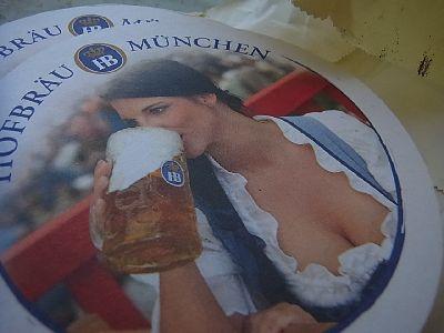 妻と子供達とビールな男