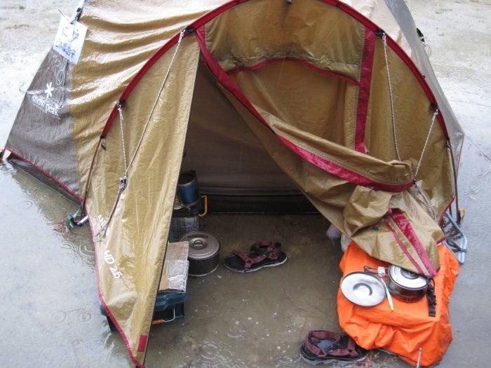 歩き人ふみの徒歩世界旅行 日本・台湾編-テント水浸し